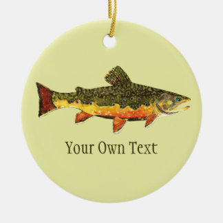 Brook Trout Fly Fishing Christmas Ornament