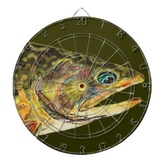 Brook Trout Fly Fishing Dartboard