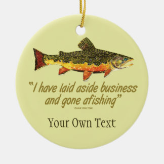 Brook Trout Fly Fishing Fisherman's Christmas Ornament