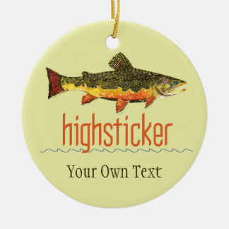 Brook Trout Fly Fishing Highsticker Christmas Ornament
