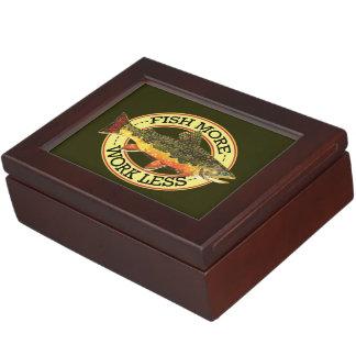 Brook Trout Fly Fishing Keepsake Box
