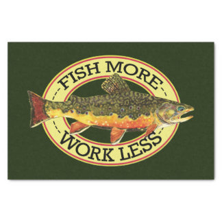 Brook Trout Fly Fishing Tissue Paper