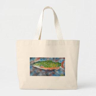 Brook Trout Jumbo Tote Bag