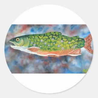 Brook Trout Round Sticker