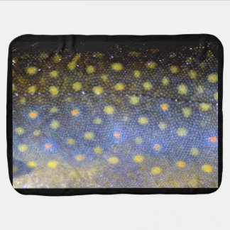 Brook Trout Scales Photography Baby Blankets