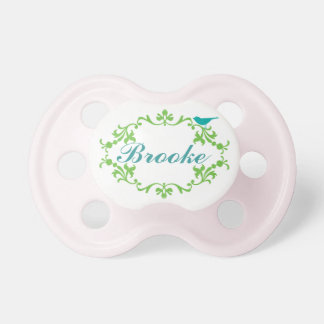 """""""Brooke"""" Personalized Name Pacifier"""