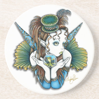 """Brooke"" Pet Fish Couture Fairy Sandstone Coaster"