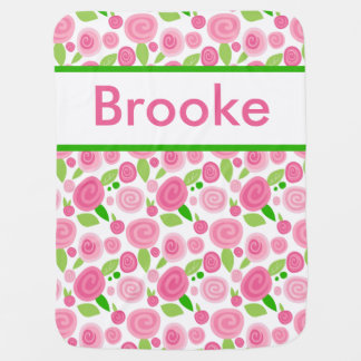 Brooke's Personalized Rose Blanket