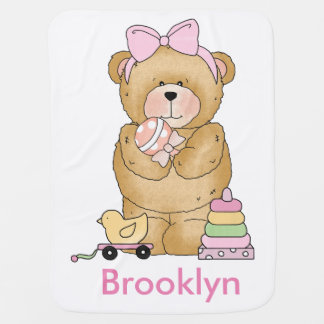 Brooke's Teddy Bear Personalized Gifts Buggy Blankets