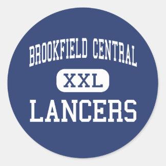 Brookfield Central - Lancers - High - Brookfield Round Sticker