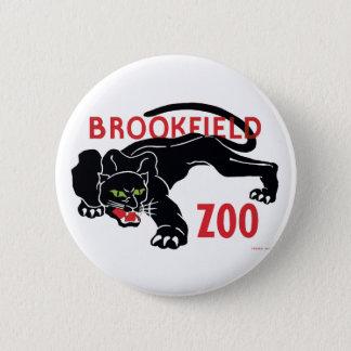 Brookfield Zoo Black Leopard Button