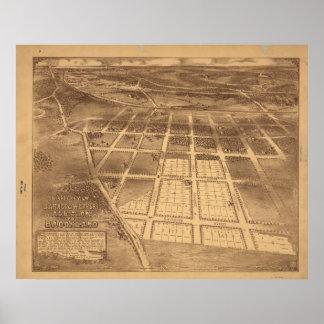 Brookland Washington DC 1895 Antique Panoramic Map Print