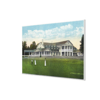 Brooklawn Country Club Women Golfing Stretched Canvas Print