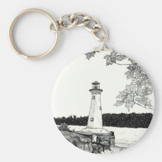 Brookline, NH -Lighthouse Key Ring
