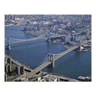 Brooklyn and Manhattan from the air New York USA Custom Flyer