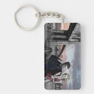Brooklyn B&W Key Ring