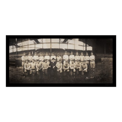Brooklyn Baseball Club Photo 1913 Poster