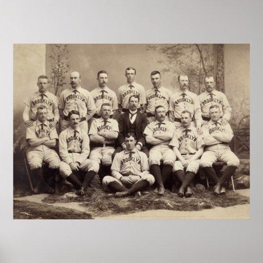 Brooklyn Baseball Team, 1889 Print