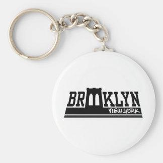 Brooklyn Basic Round Button Key Ring