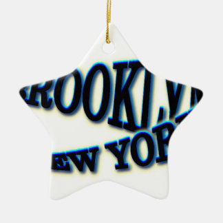 Brooklyn Blue NY Wave Christmas Ornament