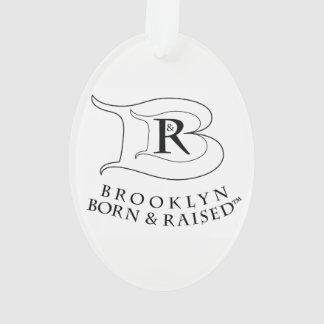 BROOKLYN BORN & RAISED LOGO ACRYLIC OVAL ORNAMENT