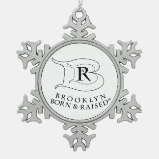 BROOKLYN BORN & RAISED LOGO SNOWFLAKE ORNAMENT