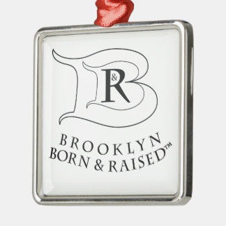 BROOKLYN BORN & RAISED LOGO SQUARE ORNAMENT