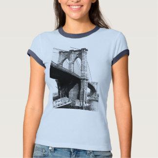 Brooklyn Bridge 1896 waterfront T-Shirt