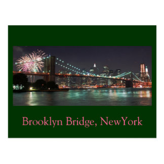 Brooklyn Bridge 2009, Brooklyn Bridge, NewYork Postcard