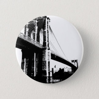 Brooklyn Bridge 6 Cm Round Badge