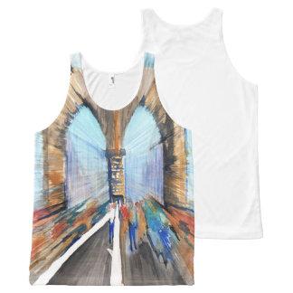 Brooklyn Bridge All-Over Print Tank Top