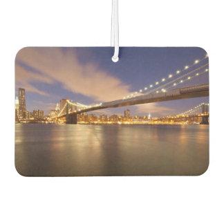Brooklyn Bridge and Manhattan at Night. Car Air Freshener