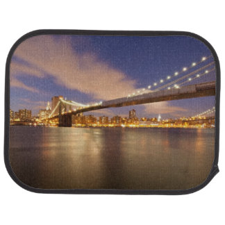 Brooklyn Bridge and Manhattan at Night. Car Mat