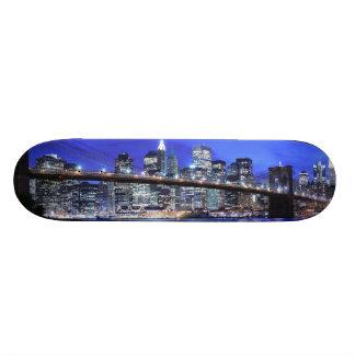 Brooklyn Bridge and Manhattan Skyline 18.1 Cm Old School Skateboard Deck