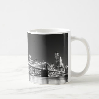 Brooklyn Bridge and Manhattan Skyline Basic White Mug