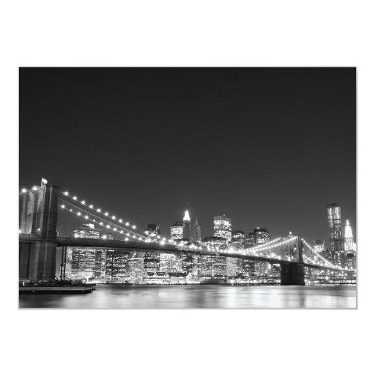 Brooklyn Bridge and Manhattan Skyline Card