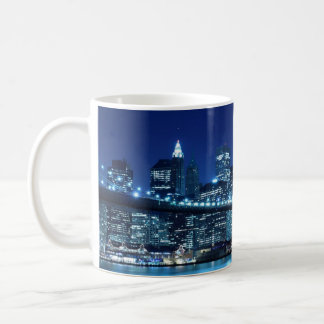 Brooklyn Bridge and Manhattan Skyline Coffee Mug