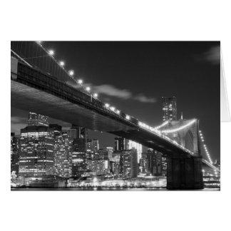 Brooklyn Bridge and Manhattan Skyline Greeting Card