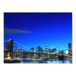 Brooklyn Bridge and Manhattan Skyline Personalized Invitations