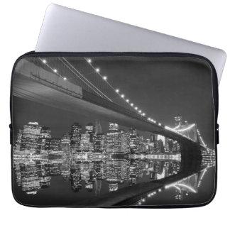 Brooklyn Bridge and Manhattan Skyline Laptop Computer Sleeves
