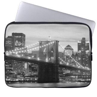 Brooklyn Bridge and Manhattan Skyline Laptop Sleeves