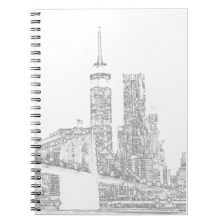 Brooklyn Bridge and Manhattan Skyline Notebooks