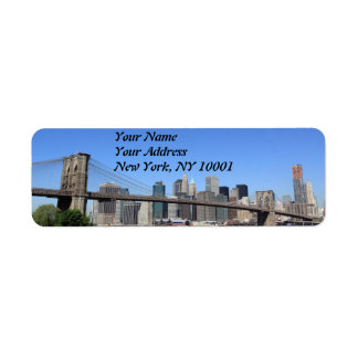 Brooklyn Bridge and Manhattan Skyline Return Address Label