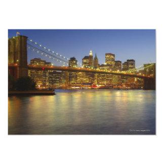 Brooklyn Bridge and New York City buildings 13 Cm X 18 Cm Invitation Card
