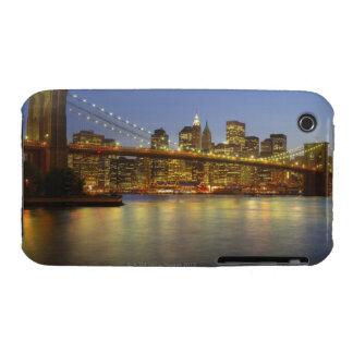 Brooklyn Bridge and New York City buildings iPhone 3 Case