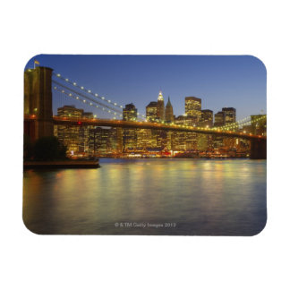 Brooklyn Bridge and New York City buildings Rectangular Photo Magnet