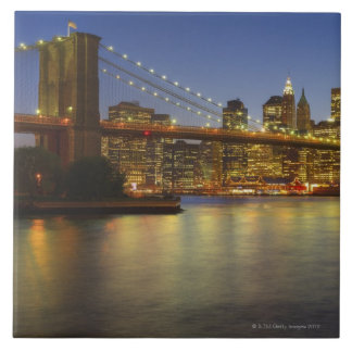 Brooklyn Bridge and New York City buildings Tile