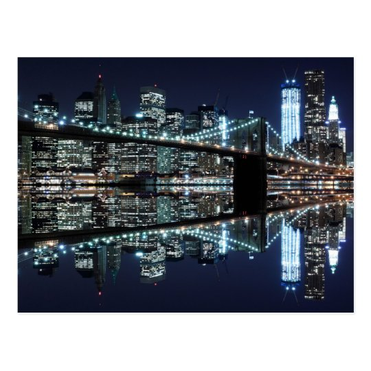 Brooklyn Bridge and The Statue of Liberty at