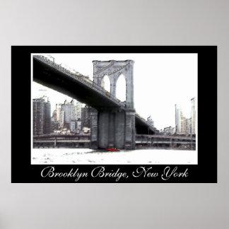 Brooklyn Bridge, art photo poster