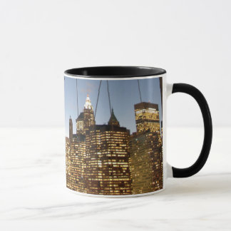 Brooklyn Bridge At Dusk With Manhattan Skyline Mug
